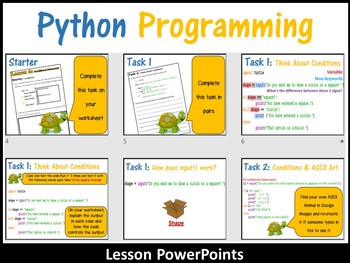 Python Programming Coding (Making Shapes) – Conditional Statements