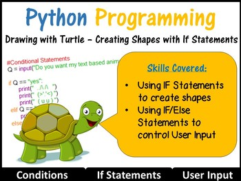 Python Programming Coding (Creating Shapes) Lesson 4 – Con