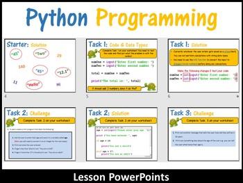 Python Programming Coding (Making Shapes) – Data Types