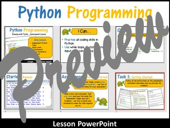 Python Programming Coding (Creating Shapes) Lesson 6 – Independent Assessment