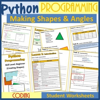 Python Programming Coding (Creating Shapes)-The Entire Second Bundle