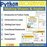 Python Programming Coding (Make Shapes) - The Entire Second Lesson Plans Bundle