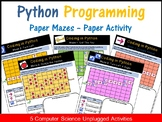 Python Programming Coding Mazes: Coding Unplugged Beginner Activities