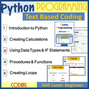 Python Programming Coding - The Entire 1st Lesson Plans Bundle (Updated 2018)