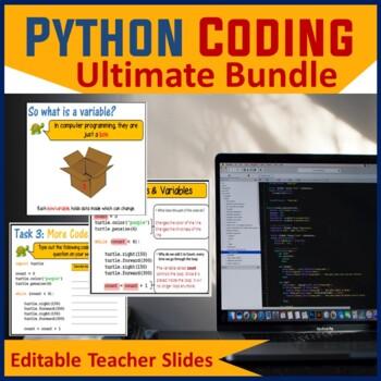 Python Programming Coding - The Ultimate Lesson Plans Bundle (Save $24)