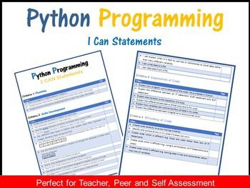 Python Programming - I CAN Statements