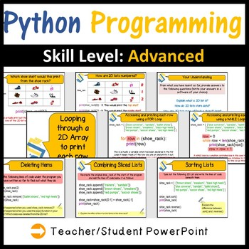 Python Programming: Working with Two-Dimensional Arrays (Skill Level:  Advanced)