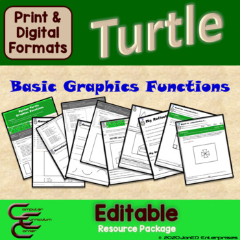 Python Turtle 1A Graphics Basic Commands