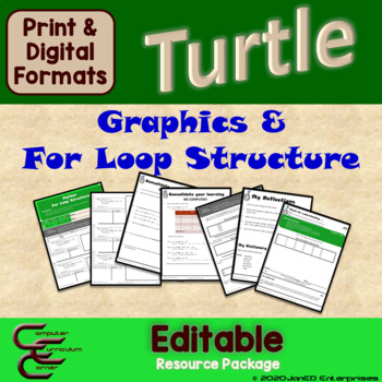 Python Turtle 1C Graphics and For Loops