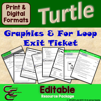 Python Turtle 1D Graphics and For Loops Culminating Activity
