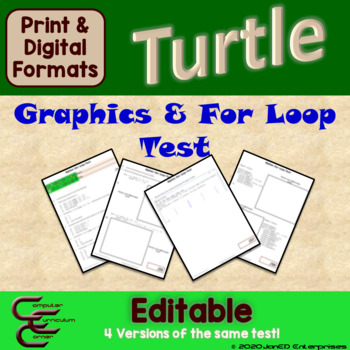 Python Turtle 1E For Loops Test