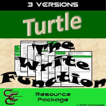 Python Turtle 2A The Write Function Basics 3 Version Resource Package