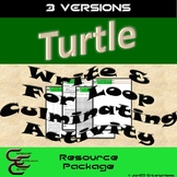 Python Turtle 2C The Write Function & For Loop Culminating Activity 3V Resource