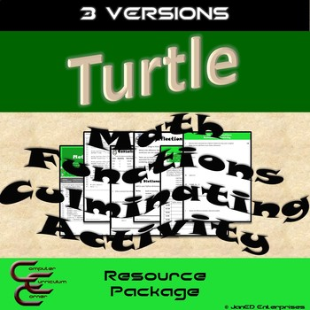 Python Turtle 5C Math Functions Culminating Activity 3 Version Resource  Package