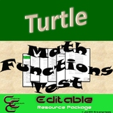 Python Turtle 5D Math Functions Test Resource Package ⇨EDITABLE⇦