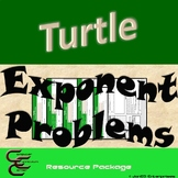 Python Turtle 6B Exponent Word Problems Resource Package ⇨EDITABLE⇦