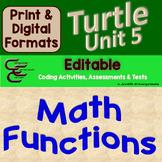 Python Turtle Unit 5 Math Functions ⇨EDITABLE⇦