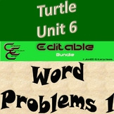 Python Turtle Unit 6 Word Problems 1 ⇨EDITABLE⇦