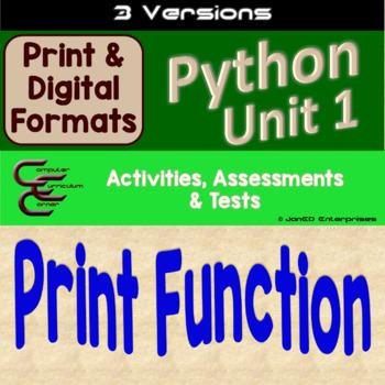 Python Unit 1 Output 3 Versions