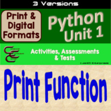 Python Unit 1 The Print Function 3 Version Unit