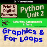Python Unit 2 Drawing and For Loops 3 Versions
