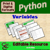Python Unit 4 Variables