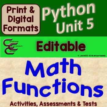 Python Unit 5 Math Functions