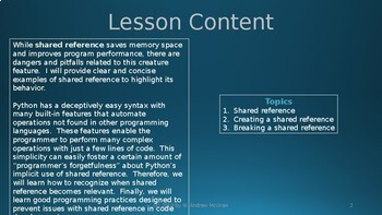 Python and shared reference