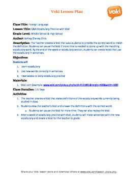 Q&A Spanish Vocab Practice