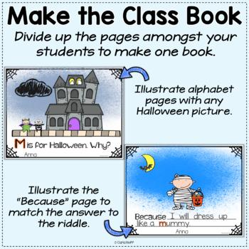 Q IS FOR HALLOWEEN!  Halloween Alphabet Book  - Class Book