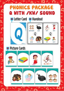 'Q' (/kw/) Phonics Resource Package