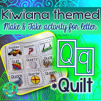 Q = Quilt {Kiwiana Themed 'Make & Take' Alphabet Set}