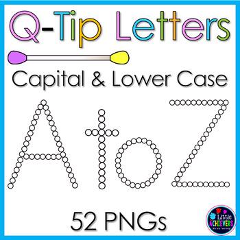 Q-TIP Painting Alphabet Letter - Bubble Letters CLIPART