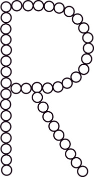 Q-TIP Painting Alphabet Letter Clipart - Bubble Letters