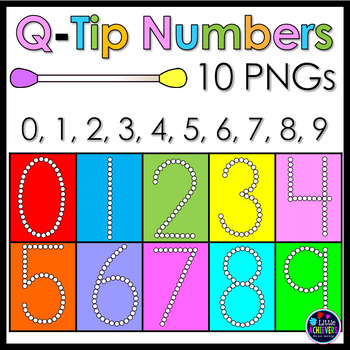 Q-TIP Painting Numbers Clipart - Bubble Numbers