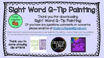 {FREE} Q-TIP Sight Words