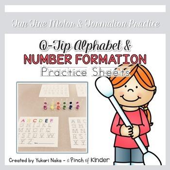 {FREEBIE} Q-Tip Alphabet & Number Formation Practice