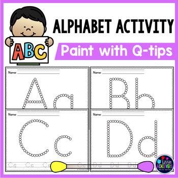 Q Tip Letter Painting - Alphabet Worksheets