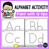 Q Tip Letter Painting - Alphabet Worksheets