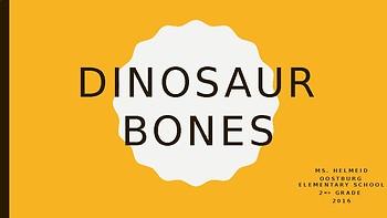 Q-Tip Dinosaur Bones Lesson