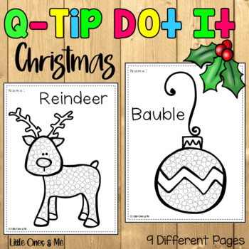 Christmas Q Tip Painting Worksheets Teaching Resources Tpt