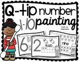 Q-Tip Number 1-10 Painting