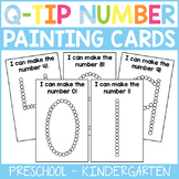 Q-Tip Number Painting Cards