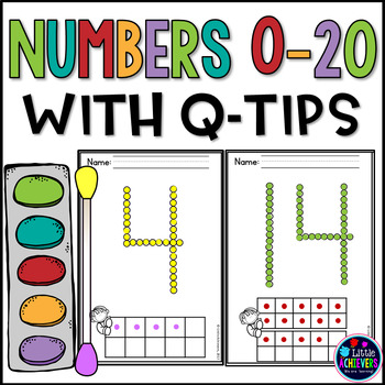 Q-Tip Painting Numbers Worksheets