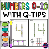 Q-Tip Painting Numbers Worksheets
