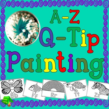 Q-Tip Painting A-Z Printables