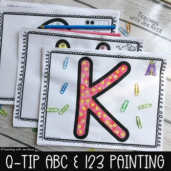 Q-Tip Painting: ABCs, 123s, Ten Frames and Beginning Sounds Art Printables
