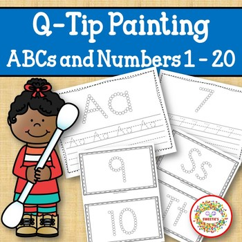 Q Tip Painting Alphabet and Numbers