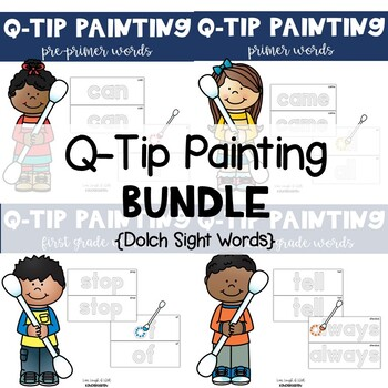Q-Tip Painting BUNDLE {Dolch Sight Words}