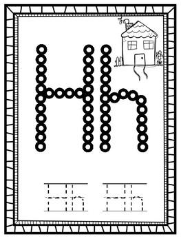 Alphabet Q-Tip Painting Letters